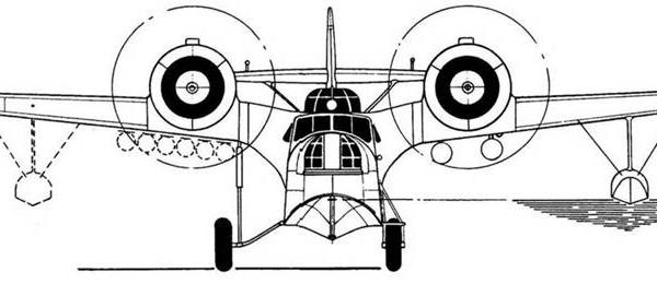 23е.МДР-6 М-25Е. Вид спереди.