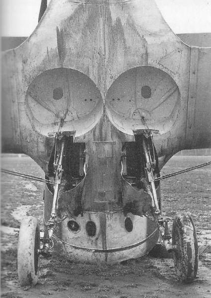25.У скапотировавшего И-153 хорошо видны ниши шасси.