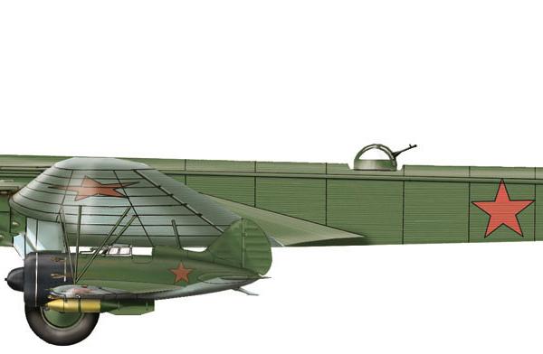 27.Звено-СПБ. Нос. ТБ-3М-34 и 2 И-16 тип 5.