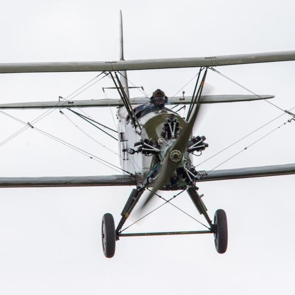 29.Реплика По-2 в полете.