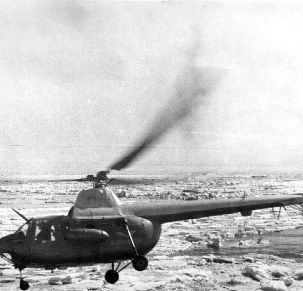 2а.Ми-1Т в Арктике. 1956 г.