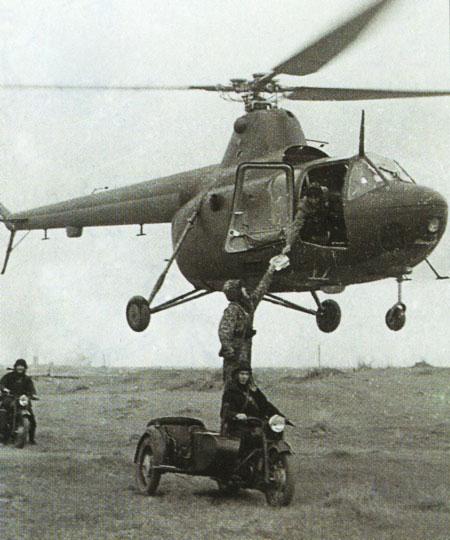 3.Ми-1М на учениях Сухопутных войск.
