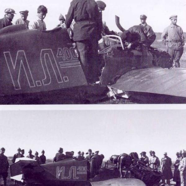 3.На месте аварии 1-го опытного ИЛ-400.