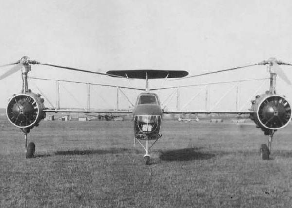 3.Вертолет Г-3. Вид спереди.