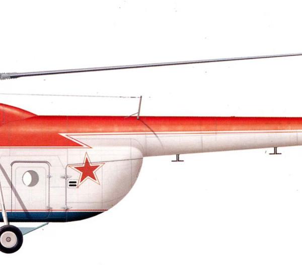 33.Ми-4А в парадной раскраске. Рисунок.