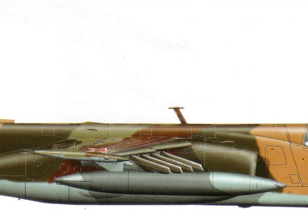 33.Су-25 из первой серии Тбилисского авиазавода. Рисунок.