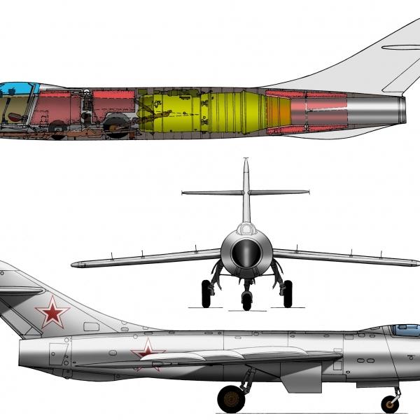 3б.Проекции Су-17 (первый). Рисунок.