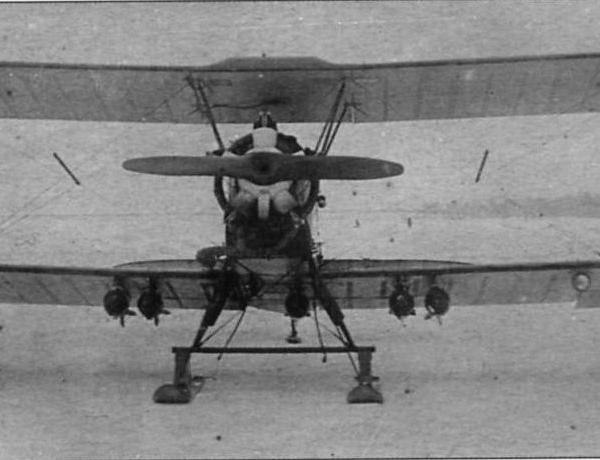 3б.Серийный У-2ВС с ШПГ-2. Вид спереди.