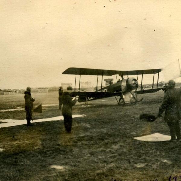4.Ленинградская школа летчиков. У-1 выруливает на старт. 1933 г.