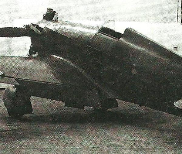 4.Опытный образец УТ-1 с закрылками, переделанный из обычной серийной машины.