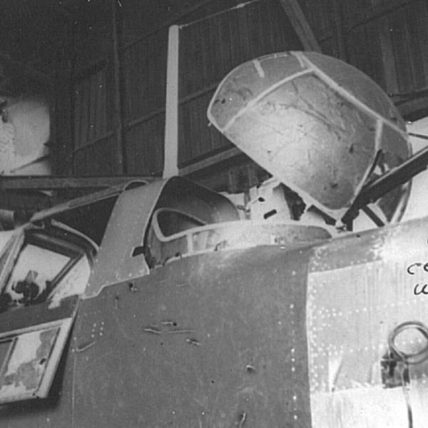 4.Вид на кабину опытного Ил-10.