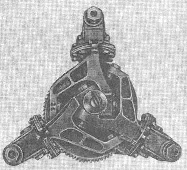 4.Втулка ротора автожира ЦАГИ А-14 с пересекающимися в центре втулки осями горизонтальных шарниров