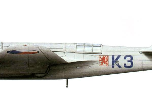 43.Avia В.71 ВВС Чехословакии. Рисунок.