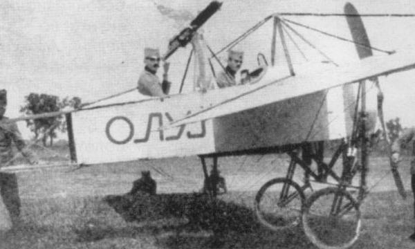 4а.Самолет Bleriot XI Олуй - первый сербский военный (вооруженный) самолет.