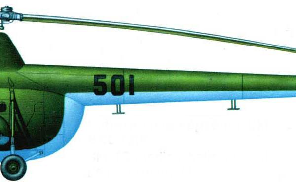 4в.Санитарный Ми-1А ВВС ГДР. Рисунок