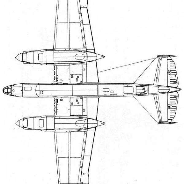 5.Ту-2Д(67). Схема 3.