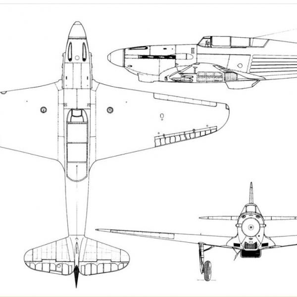 5.Як-5 (И-28). Схема.