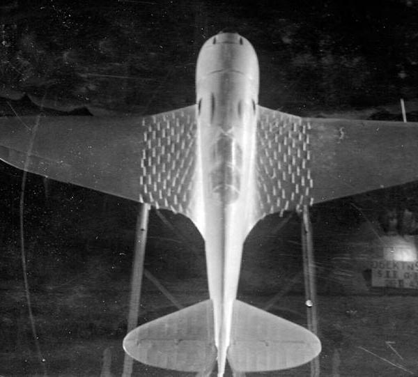 5в.Испытания модели самолета Лавочкина Ла-5Ф в аэродинамической трубе Т-101. ЦАГИ. 1942 г.