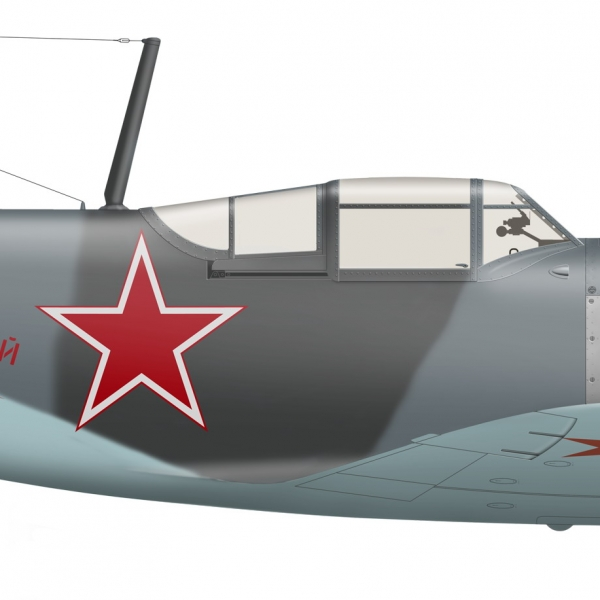 6.Ла-5Ф из состава 2-го ГвИАП. Рисунок.