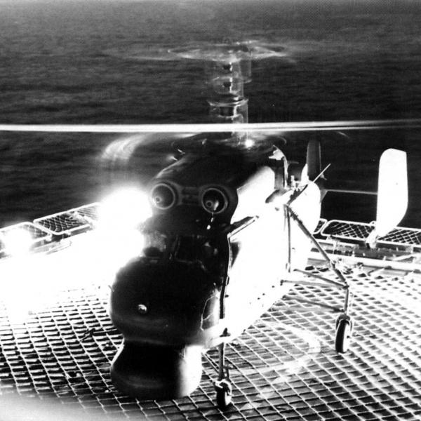 6.Ночной старт с палубы Ка-25ПЛ.