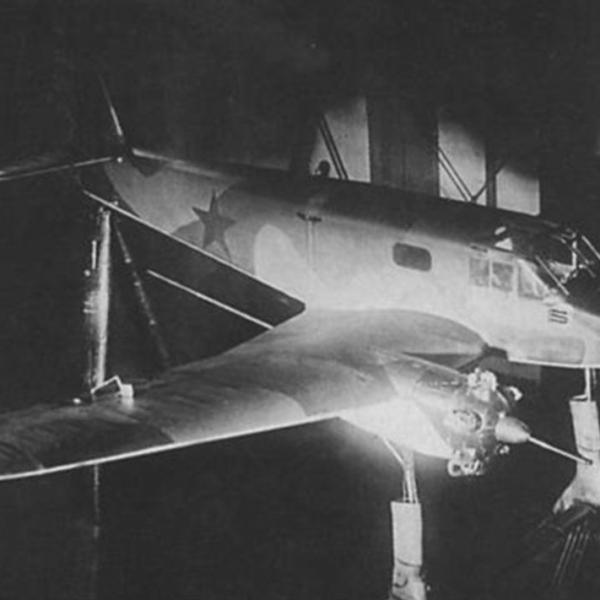 6.Як-6. Продувка в аэродинамической трубе Т-101. ЦАГИ, март 1943 г. 2