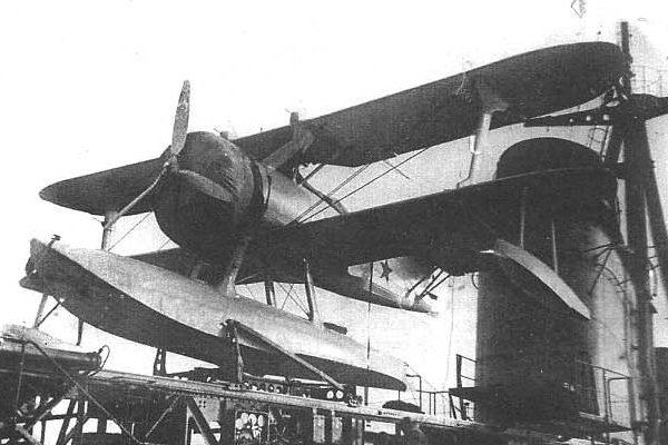 7.КОР-1 на катапульте ЗК-1Б. Крейсер Максим Горький.