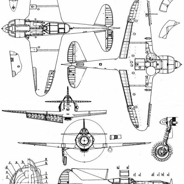 7.Ла-5Ф. Схема 1.