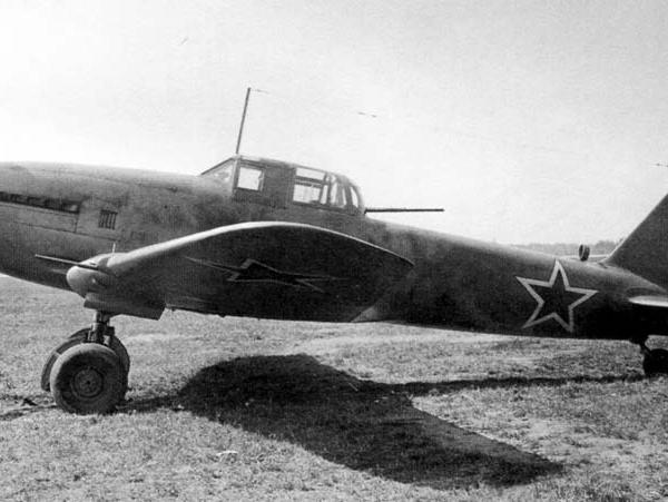 7.Оп. Ил-10 с пушкой Ш-20 в оборон. уст-ке ВУ-7. Гос. испытания. Май, 1944 г.