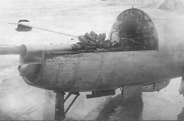 7.Пушечная батарея на истребителе Су-9 (первый).