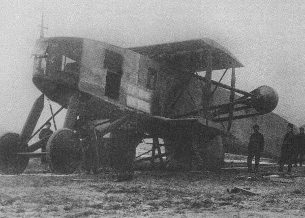7.Святогор после аварии шасси в ноябре 1916 г.