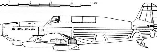 7.Як-7А 1-х серий с лыжным шасси. Схема.