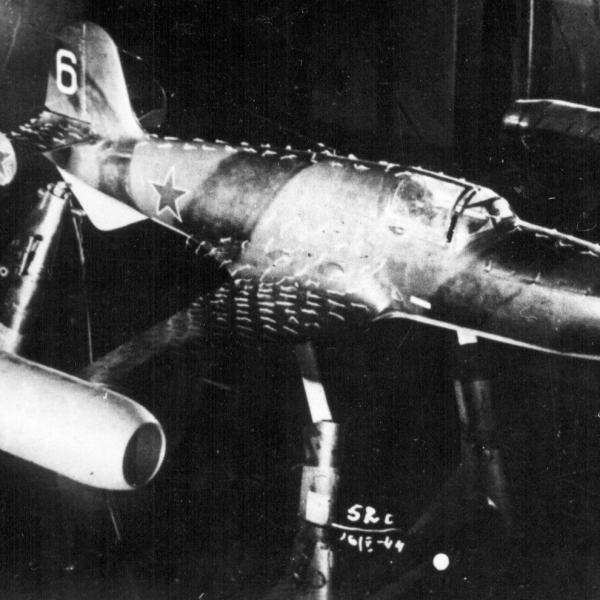 7а.Испытания БИ-6 с ПВРД в аэродин.трубе ЦАГИ.