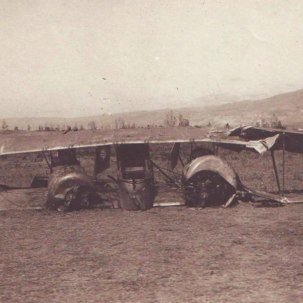 Caudron G.IV после аварийной посадки