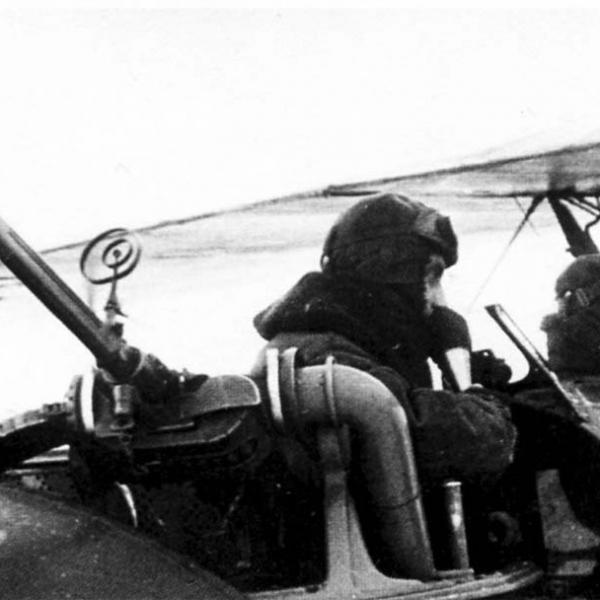 7д.Пулемет ШКАС на шкворневой установке У-2ВС