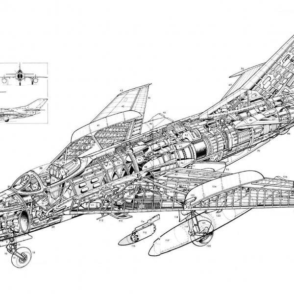 8.Компоновка МиГ-19.