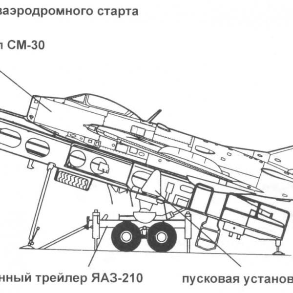 8.МиГ-19 (СМ-30) на ПУ-30. Схема.