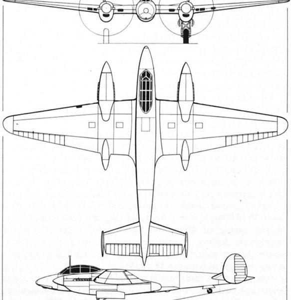 8.Пе-2И. Схема.