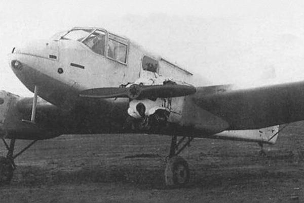 8.Як-6 в зимней окраске. НИИ ВВС апрель 1943 г.