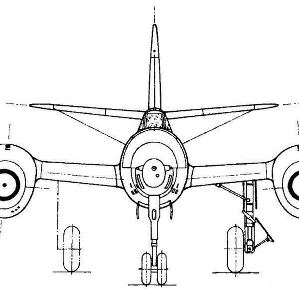 8а.Су-11 (первый). Вид спереди. Схема.