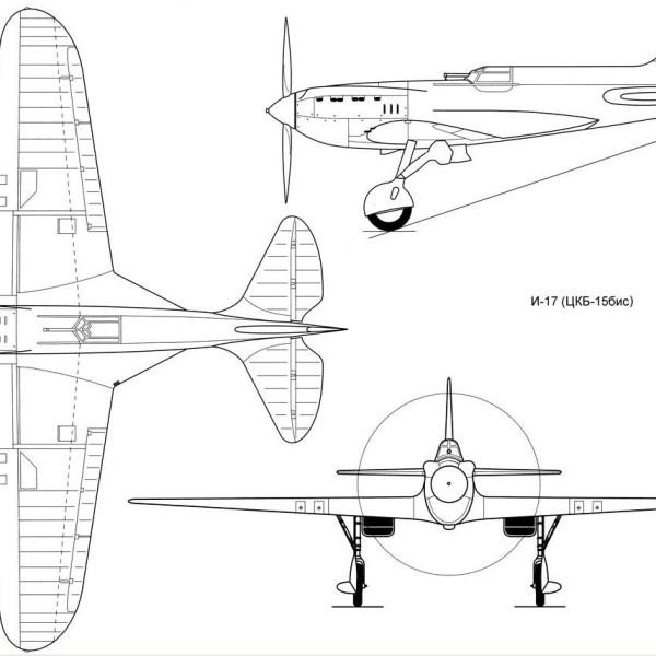 9.И-17 (ЦКБ-15бис). Схема
