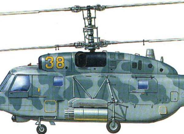 9.Ка-29 в штурмовом варианте. Рисунок.