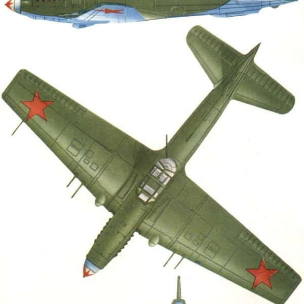 9.Проекции Ил-10М. Рисунок.