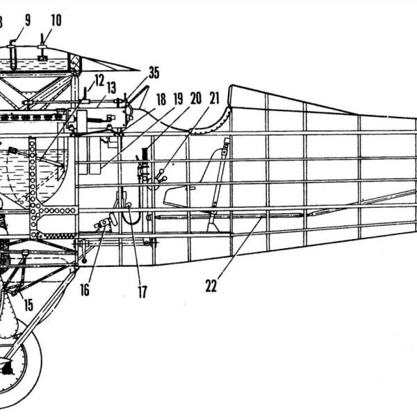 И-2бис. Компоновочная схема 1.