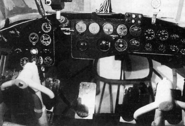 Кабина пилотов УТБ.