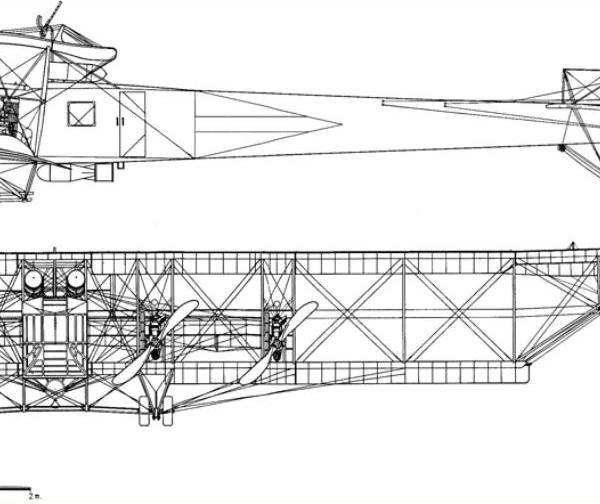 СХЕМА 6.Илья Муромец серии В-21 ВКII №167. Вид сбоку и спереди.