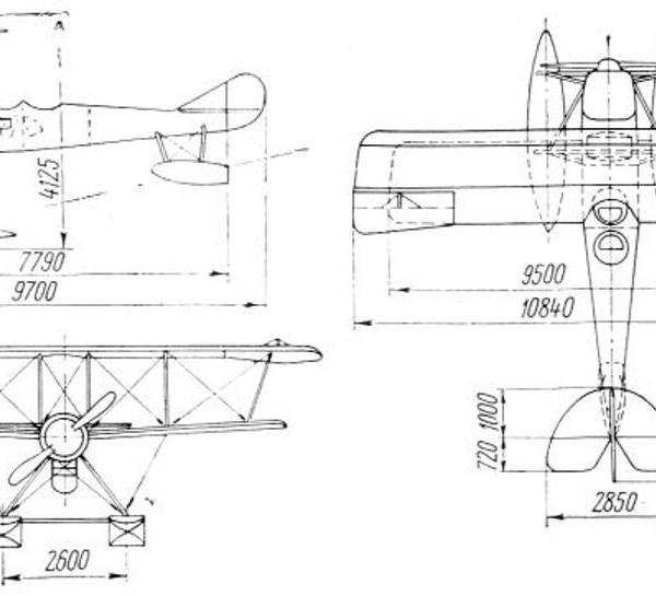 Самолет АИС. Схема 1.