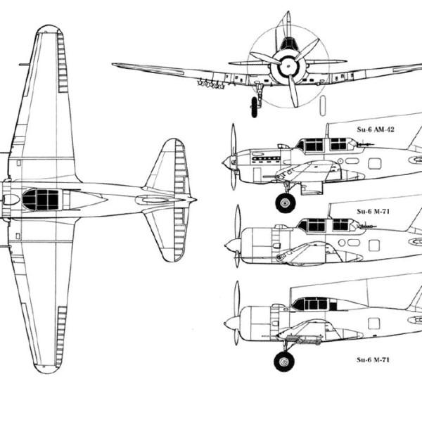 Су-6. Схема.