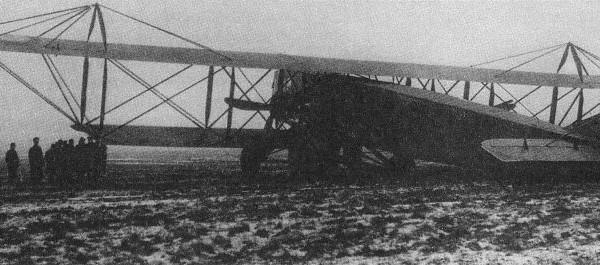 Святогор после аварии шасси в ноябре 1916 г.