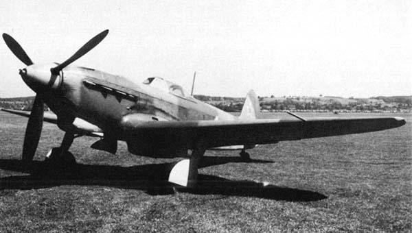 Як-9 М-106 на испытаниях.