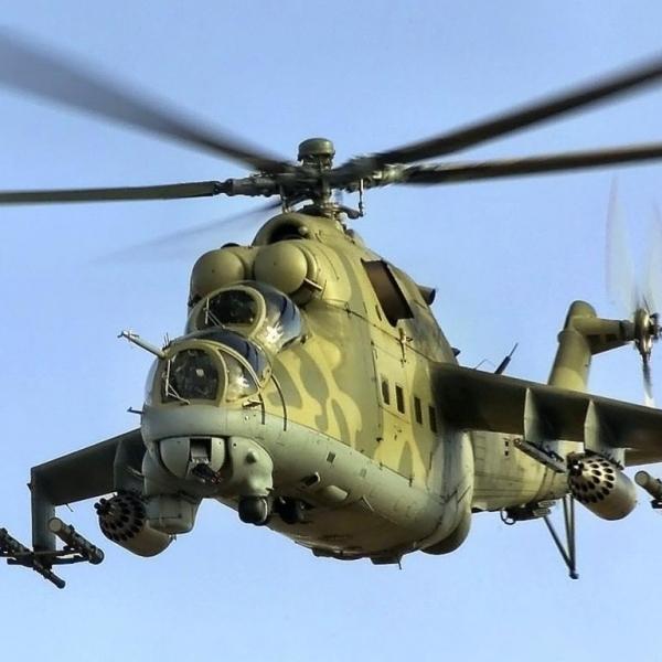 1.Многоцелевой ударный Ми-24В.